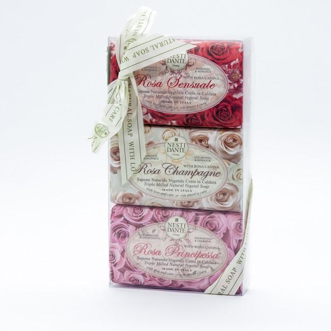 Sabonete em barra Nesti Dante - Kit c/3 - Rosa
