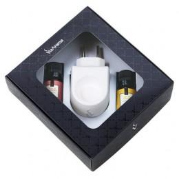 Via Aroma - Kit Difusor Elétrico Porcelana + 02 Essências Concentradas