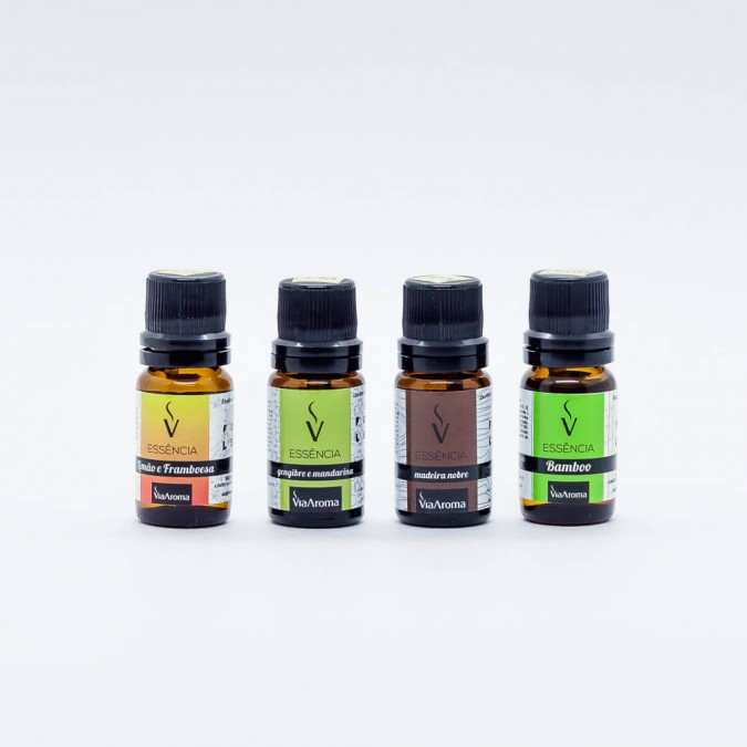 Via Aroma - Essência concentrada 10ml Kit c/ 4
